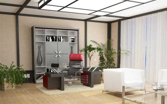 Рабочий кабинет в стиле Хай-тек