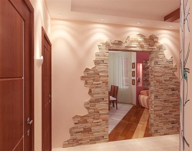 Отделка декоративным камнем фрагментами