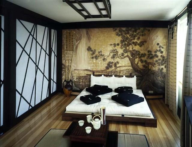 Элементы декора спальни в азиатском стиле