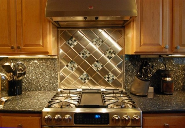 Metal backsplash tiles lowes