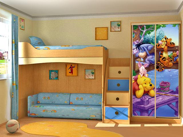 Детская комната для мальчика и девочки дизайн фото