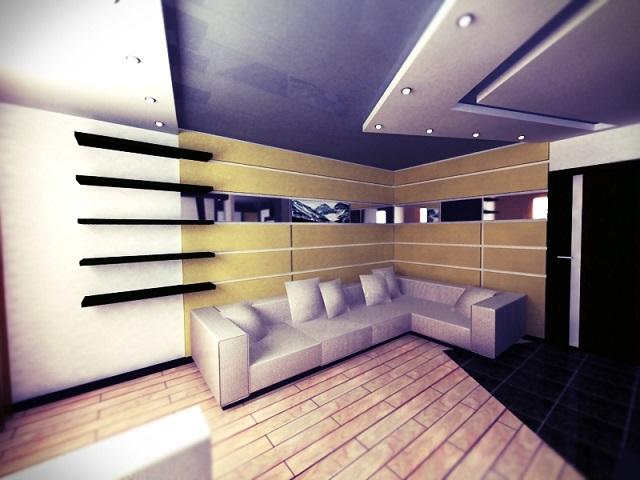 Интерьер с гипсокартонным потолком