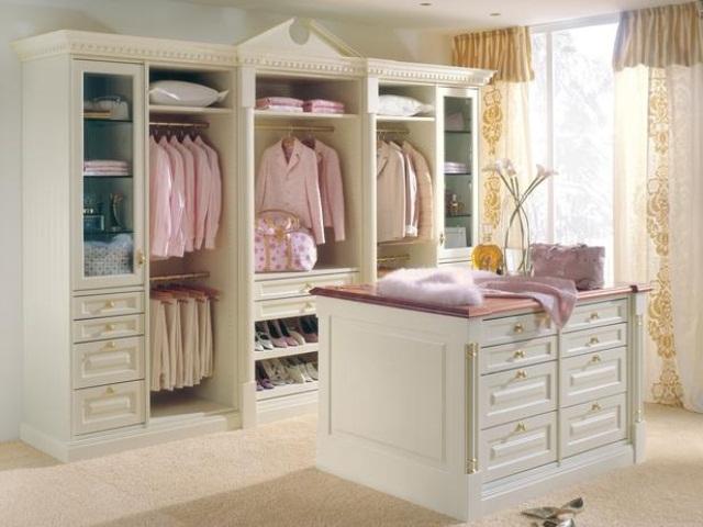 Винтажный интерьер гардеробной