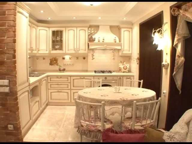 Состаренная кухонная мебель