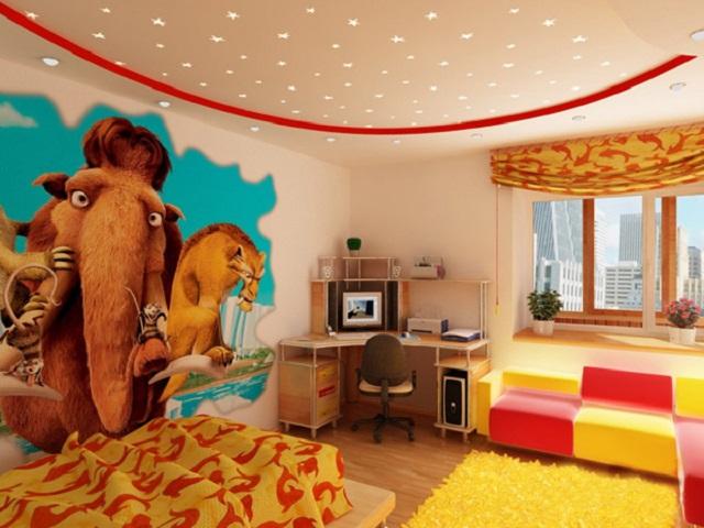 Cпальня с фотообоями для ребенка