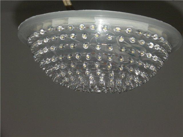 Лампа со стеклянным матовым абажуром