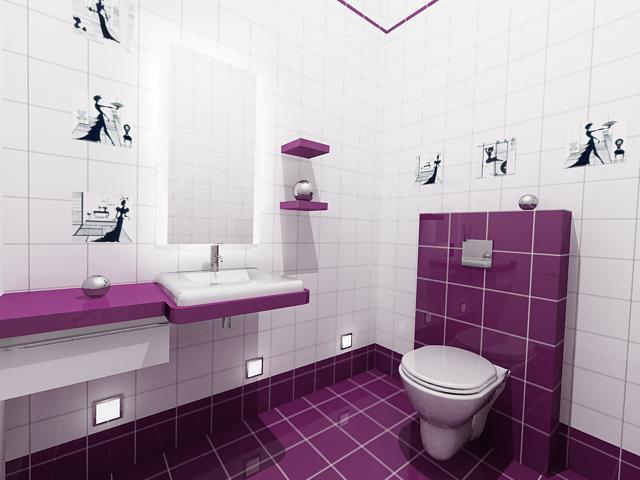 Декорирование интерьера туалета