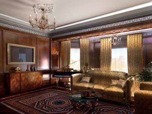 Современный зал дизайн