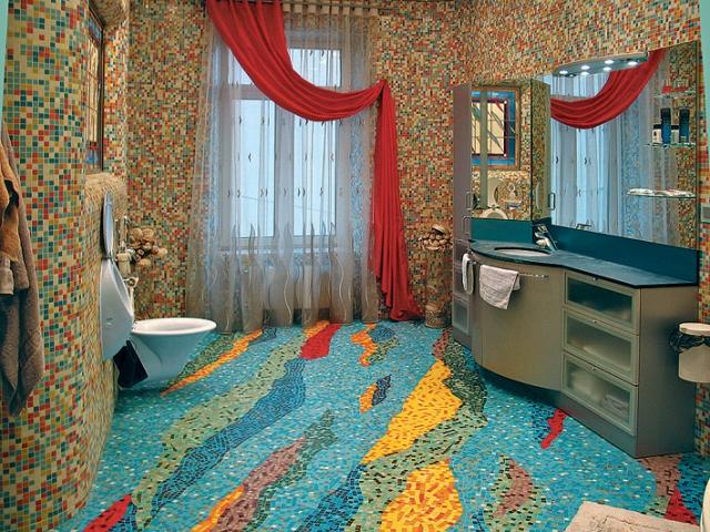 Мозаика на полу, стенах