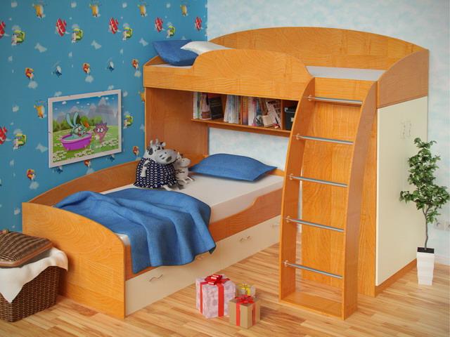 Детские кровати для разнополых детей 59