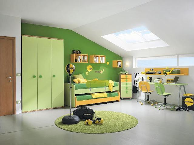 Зелёный в детской мальчика