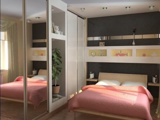 Красивый дизайн спальни 10 кв. м
