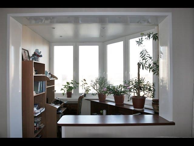 дизайн столика между спальней и лоджией