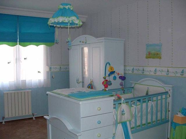 детская комната в голубых тонах для холерика