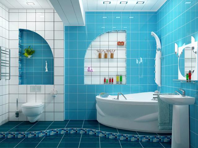 Дизайн с угловой ванной