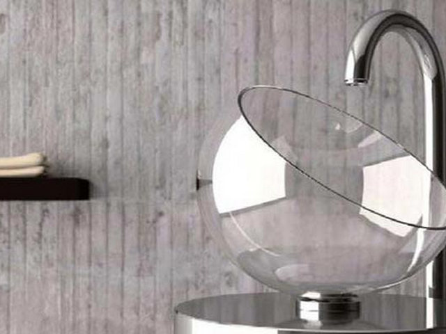 Раковина со стекла