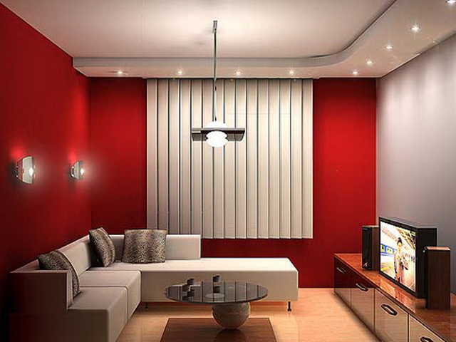 Красный в гостиной