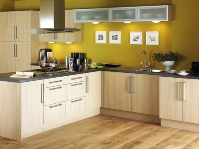 кухня в жёлтом