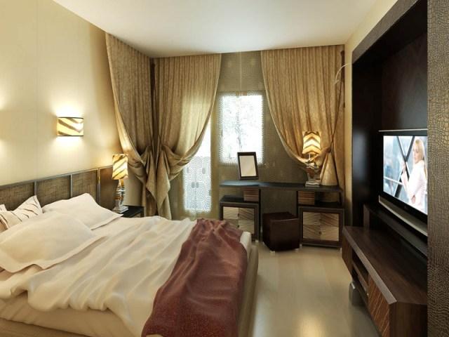 Красивые занавески в спальне