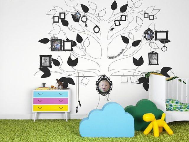 генеалогическое древо в детской комнате