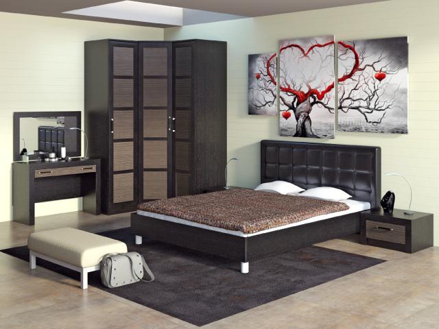 Спальня венге в интерьере