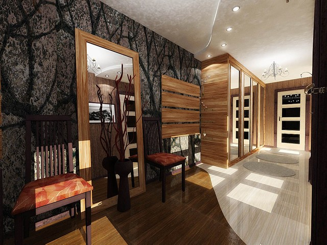 серо-коричневый оттенок в интерьере квартиры