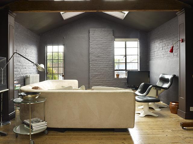 серый и бежевый – лучшая комбинация для элегантной гостиной