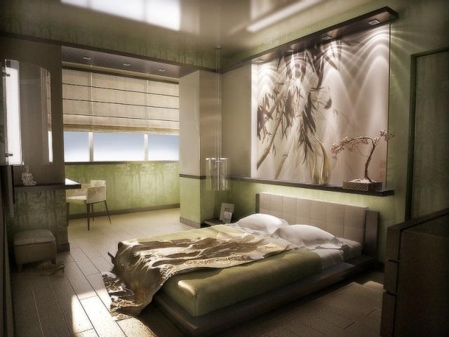 Фокусная точка в спальне
