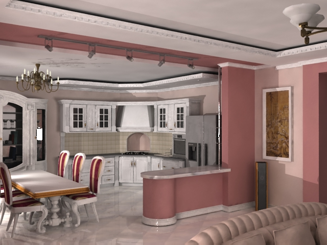 Дизайн зала и кухни вместе фото
