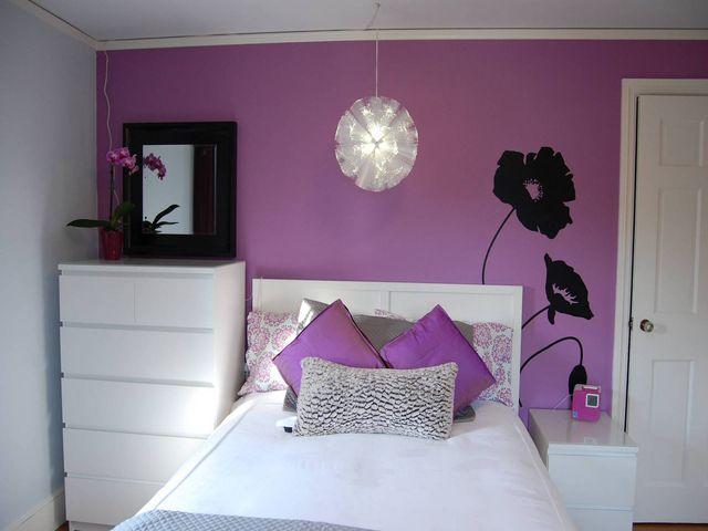 светло-лиловый оттенок фиолетового подходит для спальни