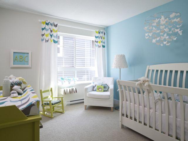 Удачное цветовое решение для детской комнаты