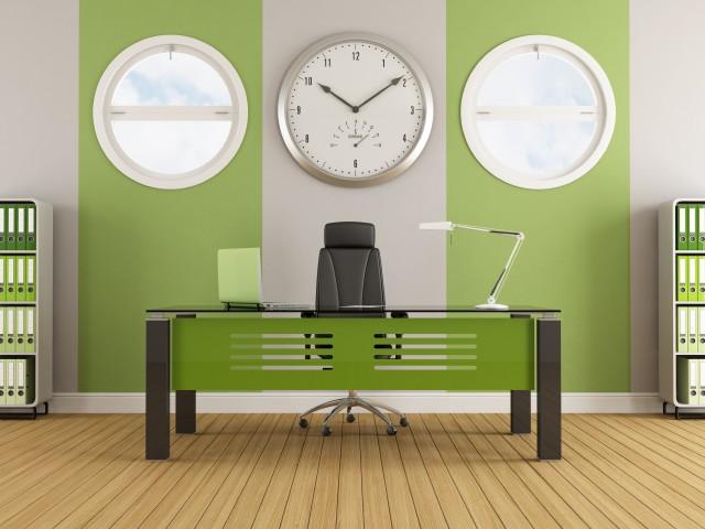 рабочий офис в стиле контемпорари