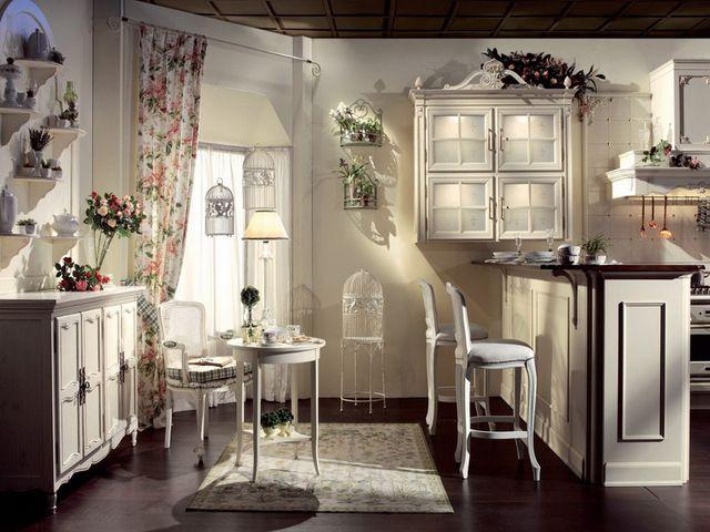 окна на кухне в стиле прованс обязательно должны быть в белых рамах