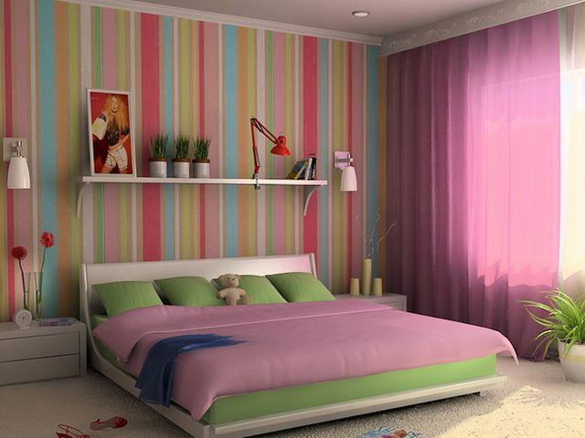 яркие разноцветные полосы помогут создать интерьер в стиле по-арт
