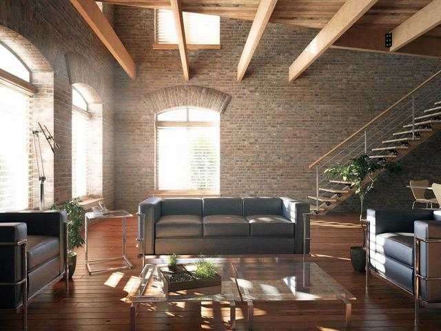 искусственные балки на потолке