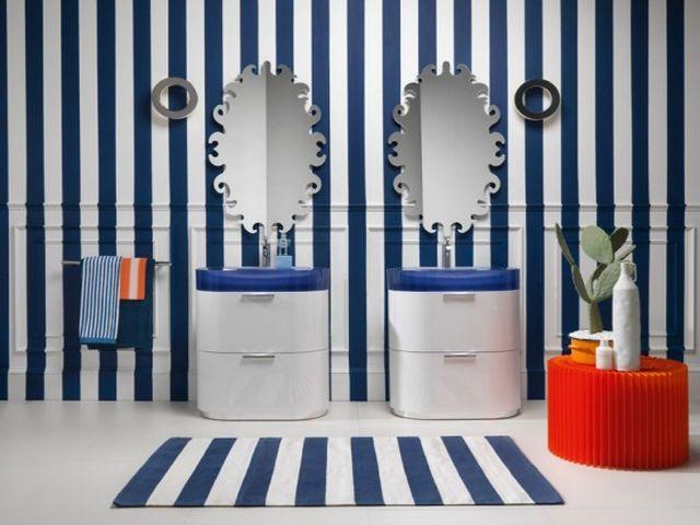 белый и синий – главные цвета морского стиля