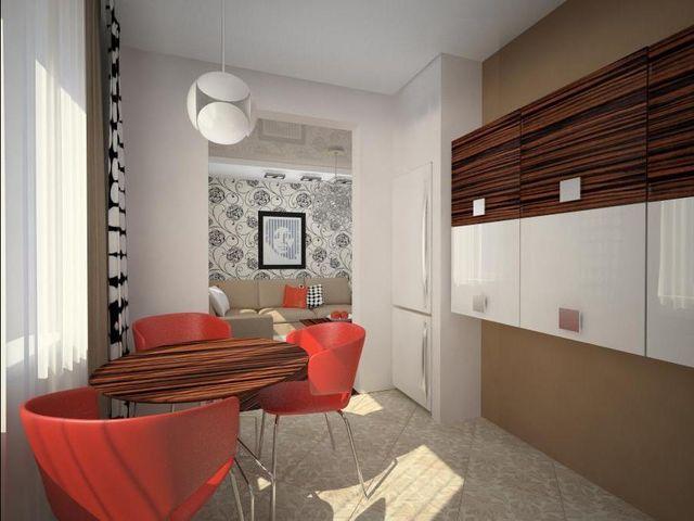 Кухня-студия в панельном доме