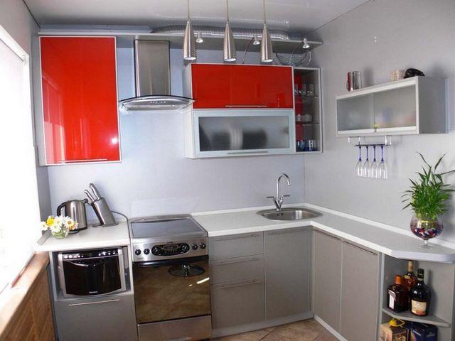 кухонный гарнитур L-образной формы
