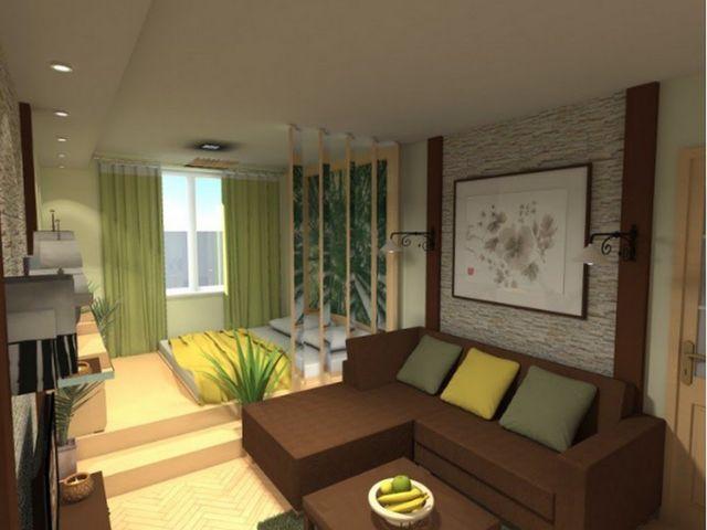 использование подиумов в однокомнатной квартире