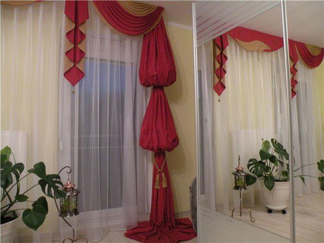 шторы с кисточками