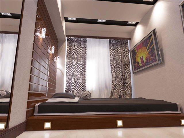 декоративный подиум в спальне