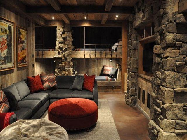 каминный камин в альпийском дизайне