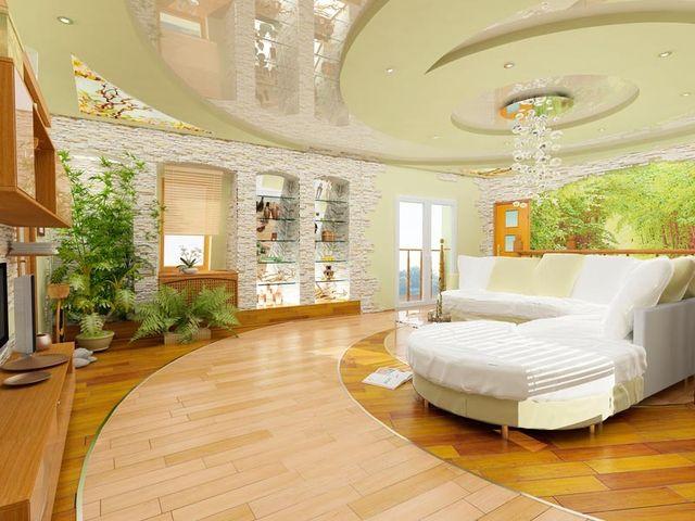 Отделка комнаты отдыха офиса в экологичном стиле