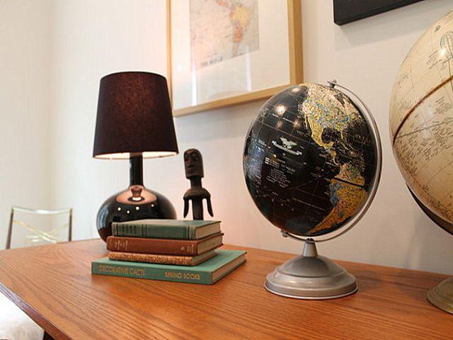 глобус в качестве декоративного элемента