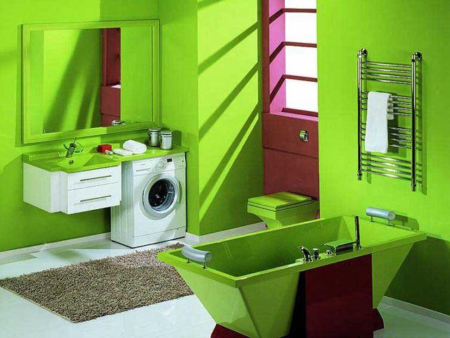 зеленая ванная – это очень модно