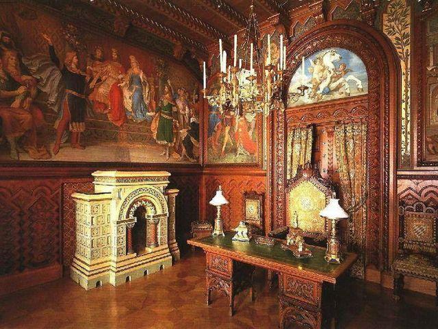 Настенная фреска в византийском стиле интерьера