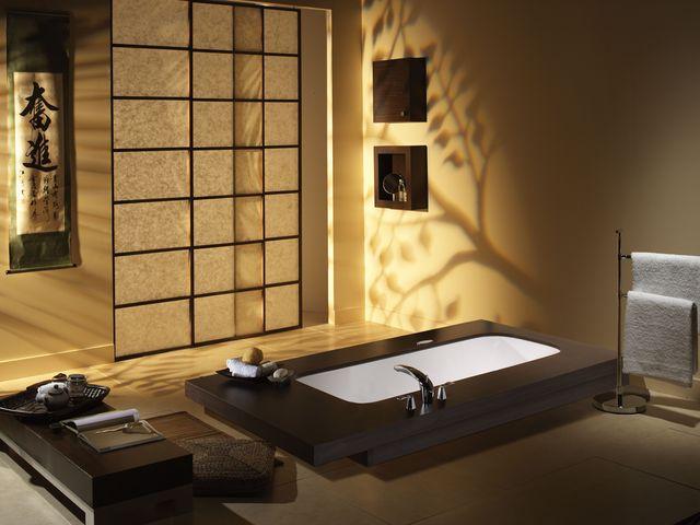 Японский минимализм в интерьере ванной