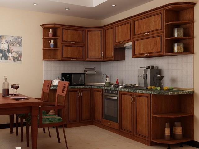 семейная коричневая кухня