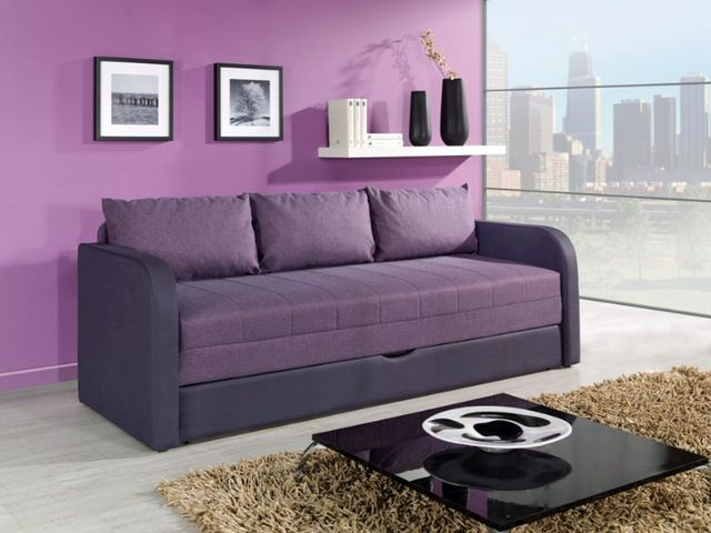 раскладной диван в спальне