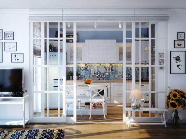 Разделение пространства стеклянной перегородкой